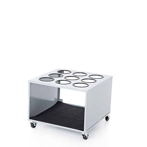 Wheeled container for 9 cylinders