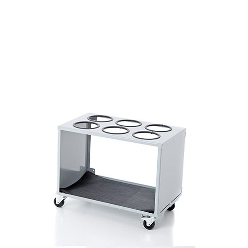 Wheeled container for 6 cyls